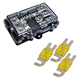 Harmony HA-MIDIFD3 Mini ANL MIDI 3-Way Fused Distribution Block & 150 Amp Fuses
