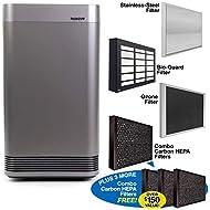 NuWave OXYPURE Large Area Smart Air Purifier; Capture and Eliminate Smoke, Dust, Pollen, Mold, Pet Dander, Allergens, Lead, Formaldehyde, Gases, VOCs & Germs