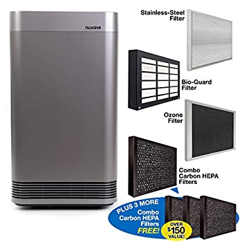 Image of Home and Kitchen NuWave OXYPURE Large Area Smart Air Purifier; Capture and Eliminate Smoke, Dust, Pollen, Mold, Pet Dander, Allergens, Lead, Formaldehyde, Gases, VOCs & Germs