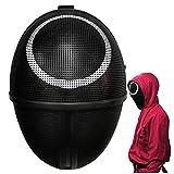 Round Shape Masked Man Squid Game Resin Mask 2021