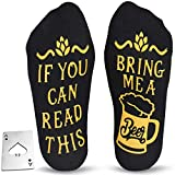 Cavertin Beer Lover Set with Men's Novelty Beer Socks and Bottle Opener Black