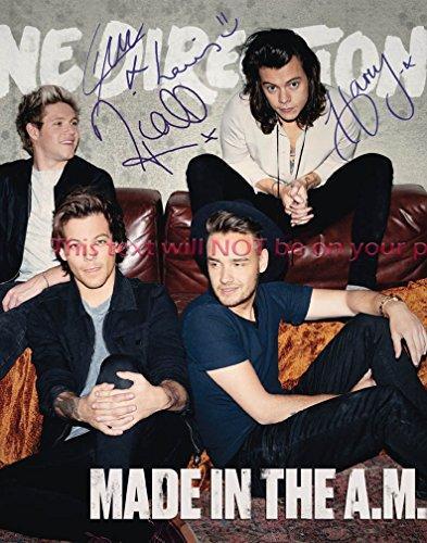 one direction autographed items - 4