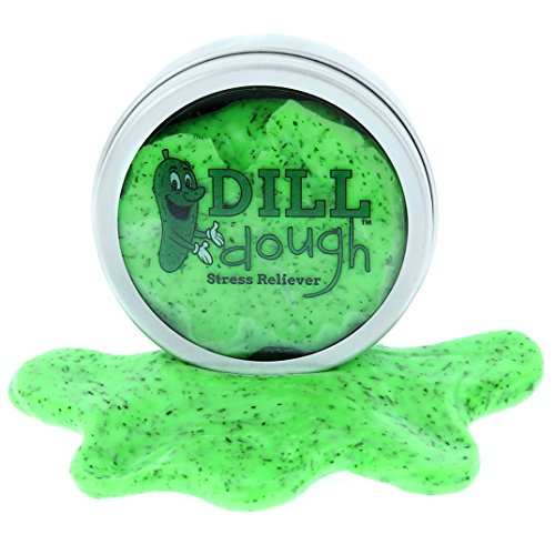 Gears Out Dill Dough Stress Reliever Putty - Stress Relief Toys for Girlfriends Funny Pickle Gifts Stocking Stuffers for Adults Stocking Stuffers for Women Dill Scented Stress Putty Weird]()