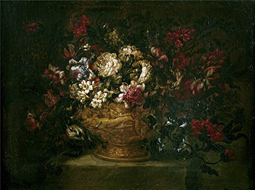 Perfect Effect Canvas ,the Replica Art DecorativeCanvas Prints Of Oil Painting 'Corte Gabriel De La (Attributed To) Florero 1670 80 ', 12 X 16 Inch / 30 X 41 Cm Is Best For Living Room Decoration And Home Decor And Gifts