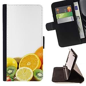 For HTC One M9 - Fruit Macro Fruits Combo /Funda de piel cubierta de la carpeta Foilo con cierre magn???¡¯????tico/ - Super Marley Shop -