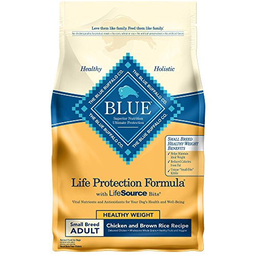 BLUE Life Protection Formula Adult Small Breed Healthy Weight Chicken and Brown Rice  Dry Dog Food 6-lb