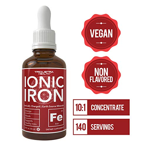 Ionic Liquid Iron Supplement - Highest Absorption Rate Allows for Smaller Dose & Less Stomach Issues |Non-Flavored, Vegan, Ionically Charged, Earth-Sourced Minerals (140 Servings)