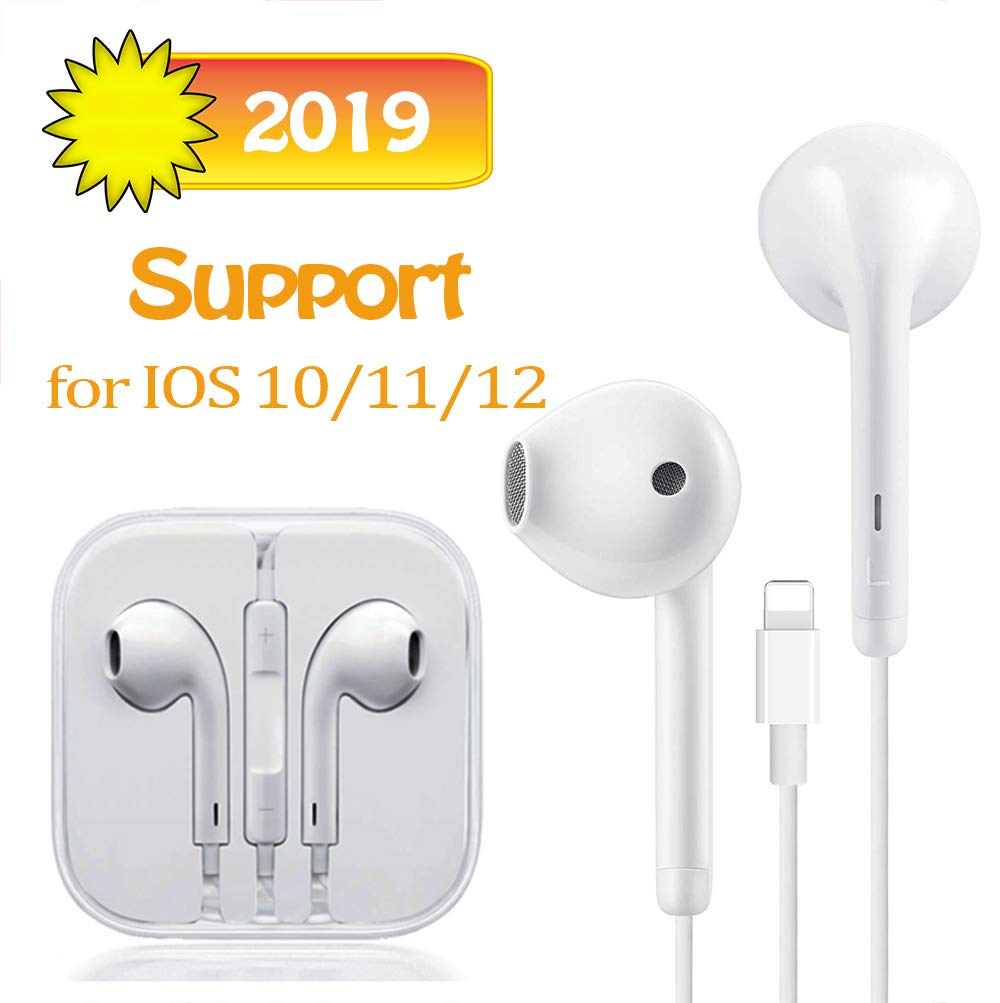 Earphones Connector Pop-up Pair Earbuds Headphones Noise Isolating Headset Support Call Volume Control Compatible with iPhone 11//7//8 Plus//X//XR//XS Max//for iOS 10.3 or highe,Monopod Heads