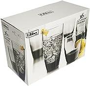 Classic Smoke Jogo com 16 Copos Whisky/L; drink Libbey Transparente