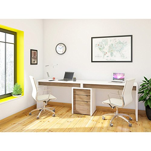 Nexera Liber-T 2 Person Desk with Filing...