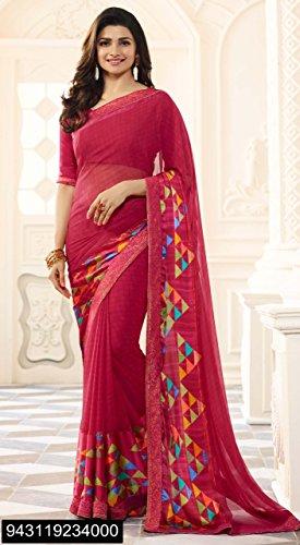 Set Indian Dress Casual Salwar etnica Bollywood Georgette petticoat camicetta Saree Dress ragazza tradizionale Designer High Sari Saree cucita Prachi Kameez donna da 2776 fqIwvR
