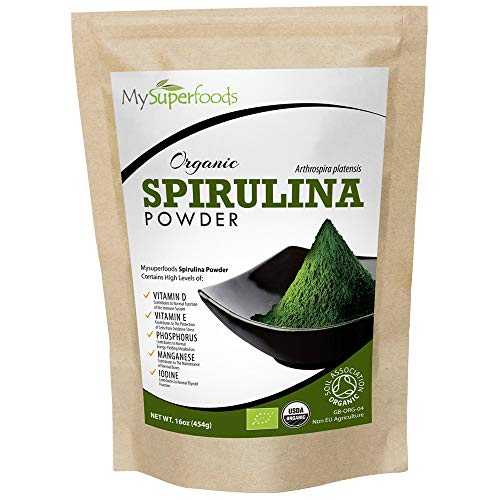 Organic Spirulina Powder (500 Grams / 1.10 lbs)| MySuperFoods | Packed with Protein, Calcium and Vitamins | Nutrient Rich | Highest Quality Available | Certified Organic by The Soil Association