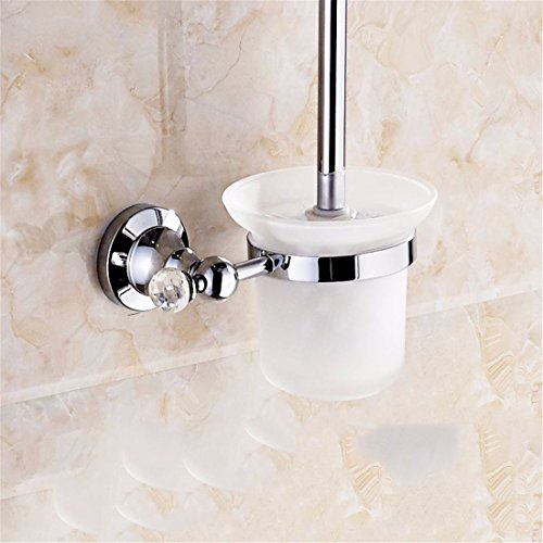 LAONA The Brass chrome bathroom wall panelling drill set item Continental bath towel rack towel Bar Racks, Toilet brush