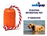 SodaPup – Natural Rubber Training Dummy – Foating Water Toy – Water Retrieving Toy – Made in USA – Orange – Large