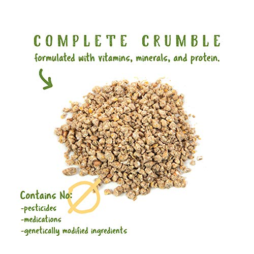 Manna Pro Organic Starter Cumble Complete Feed | Made with 19% Protein, USDA & Non-GMO | 5 Pounds, 1000223