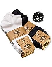 Rob & Dave's Sneaker Socken - 5 Paar - TOP ÖKO TEX Qualität - für Damen & Herren - nahtlose Freizeitsocken in schwarz & weiß - ohne drückende Naht - mit venenfreundlichem Komfort-Bund