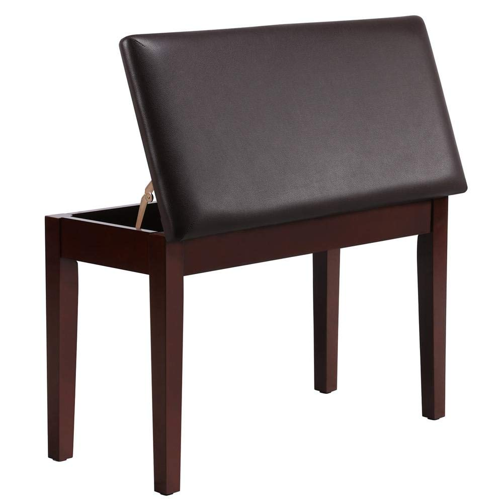 Yaheetech Padded Piano Bench Storage Bench Stool Keyboard Benches Chairs Seat Perfect for Piano Zither Guitar Fork Music Wind Music & Most Other Musical Instruments