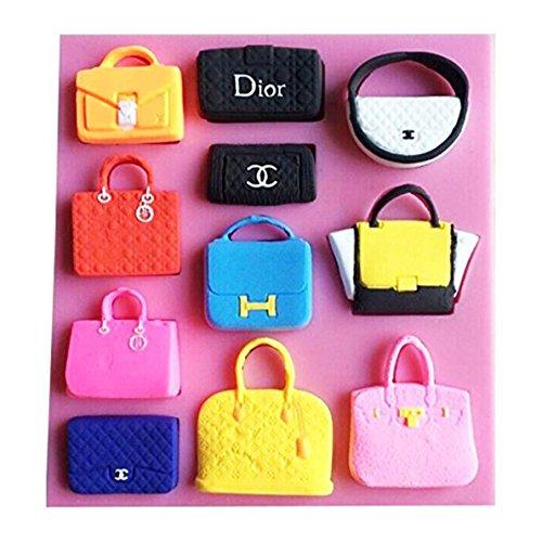 Designer Cookie Cutters - SaSa Design Mini Handbag Shape Fondant Cake Chocolate Mold Candy Kitchen Baking Tools (Bags Mold)