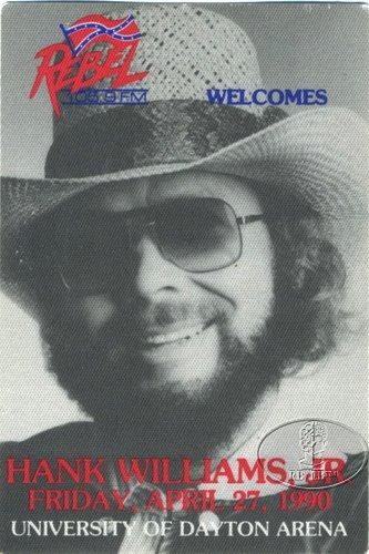 Hank Williams, Jr. 1990 Radio Promo Backstage Pass