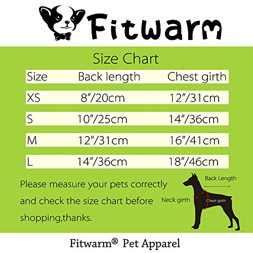 Fitwarm Adorable Milk Cows Pet Dog Clothes Comfy Velvet Winter Pajamas Coat Jumpsuit, Small by Fitwarm (Image #7)