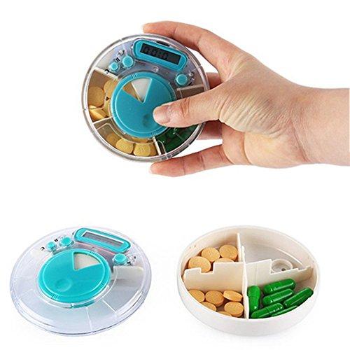 Happy FD - Dispensador de pastillas automático electrónico Organizador de Medicamentos, con las alertas de pitido: Amazon.es: Bricolaje y herramientas