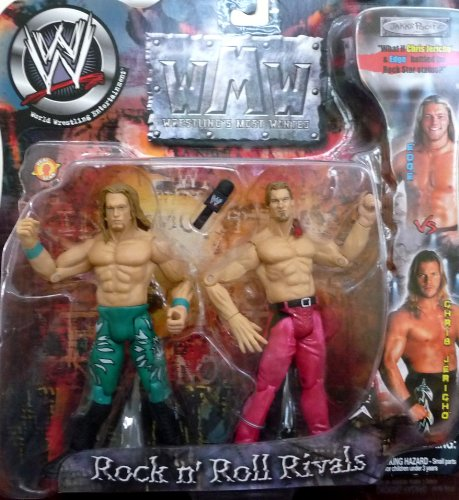 EDGE vs. CHRIS JERICHO - WWE Wrestling Wrestling's Most Wanted Rock n' Roll Rivals 2 Pack by Jakks by Barbie