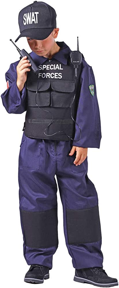 Das Kostümland Disfraz de SWAT Special Forces para niños – Policía ...