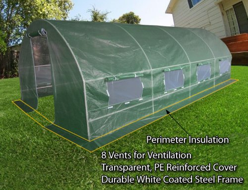 Quictent 20\'x10\'x7\' Portable Greenhouse Large Walk-in Green Garden Hot House