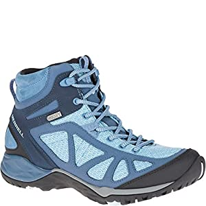 Merrell Women's Siren Sport Q2 Mid Waterproof Hiking Boot, Blue, 8.5 Medium US