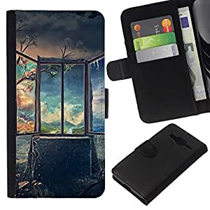 All Phone Most Case / Oferta Especial Cáscara Funda de cuero Monedero Cubierta de proteccion Caso / Wallet Case for Samsung Galaxy Core Prime // Art Deep Breathtaking Painting