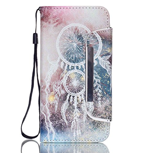 Galaxy S6 Edge Case, Firefish Flip Superior PU Leather Foldable Wallet Pouch Anti-Scratch Dual Protective Magnetic Closure Detachable Design Shell with Strap for Samsung Galaxy S6 Edge-Net