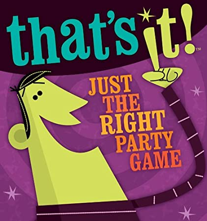 JUST THE RIGHT FAMILY PARTY GAME NEW GAMEWRIGHT THAT/'S IT