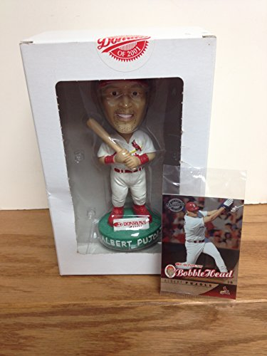 (Albert Pujols St. Louis Cardinals 2001 Donruss Limited Edition White Jersey Promo Bobblehead With Rookie Card)