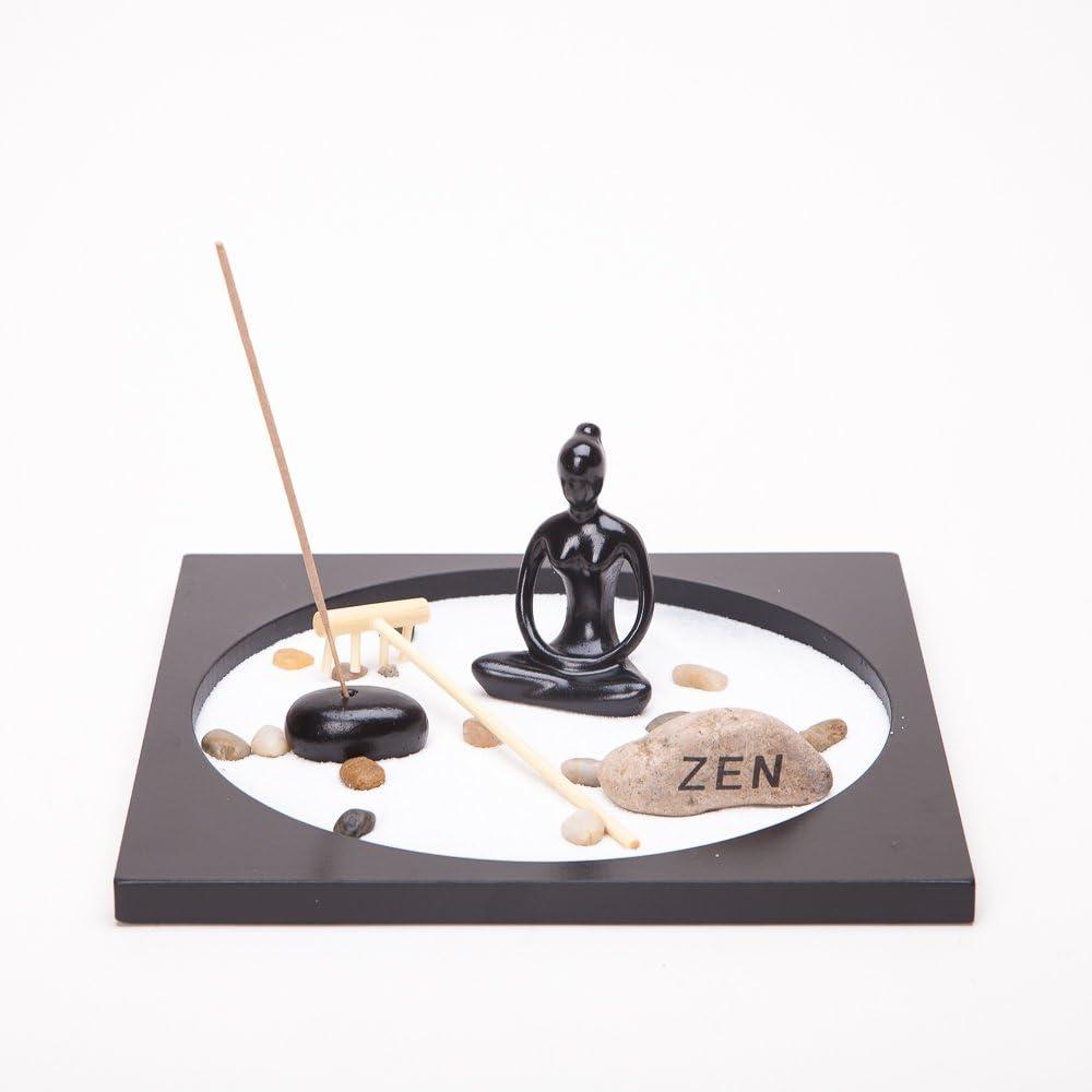 THY COLLECTIBLES Asian Japanese Feng Shui Sand Zen Garden Yoga & Incense HY173
