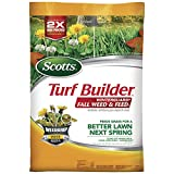 Fall is the best time to feed, and with Scotts Turf Builder WinterGuard Fall Weed & Feed3. This lawn food is formulated to deliver the nutrients lawns need in the fall, repairing damage from the heat and drought of the summer and ensuring a better la...