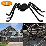 Roberly Halloween Giant Spider 4.1 Ft, Large