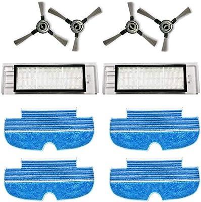 Zealing - Kit de 2 filtros + 4 cepillos laterales + 4 mopas para la limpieza del robot aspirador Proscenic D550 / 880T: Amazon.es: Hogar