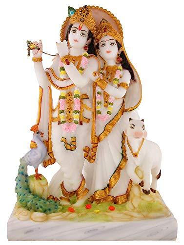 (Radha Krishna Marble Idols | murti for Pooja Room | Idols Home Decor,Diwali Festive Gifts.)