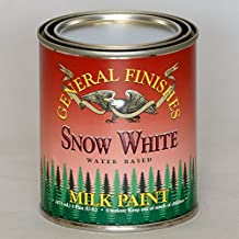 General Finishes PSW Milk Paint, 1 pint, Snow White by General Finishes