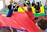 Merav Asher's 'rugby touch down' tarp parachute - physical education equipment, family game,outdoor/indoor, Classroom Group activity,preschool activities, family game, rugby element