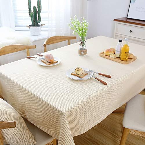 jaune 140x220cm Nappe en lin coton, revêteHommest de table résistant à la déCouleuration et facile à nettoyer, styles variés, revêteHommest de table de haute qualité, idéal pour buffet de table