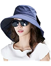 8fa5d828dcf UV Protection Sun Hats Packable Summer Hat Women w Ponytail Chin Strap  55-61CM