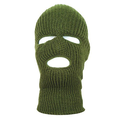 Fox Outdoor Products Acrylic Three Hole Face Mask, Olive Drab