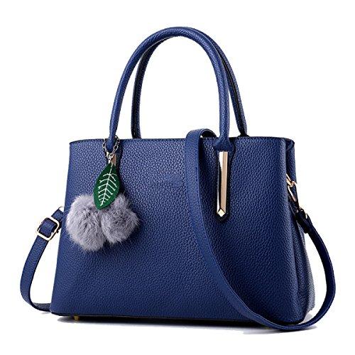 Bags WU Bags Boutique Handbags Shoulder Handbags Blue ZHI Messenger PU Women's rnnxHFX