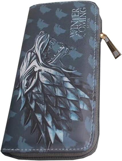 Game of Thrones Billetera Personalidad Versión Coreana Moda Poder Juego Hielo y Fuego Canción Familia Insignia Monedero (Color : Blue, Size : 11.5 X 9cm): Amazon.es: Equipaje