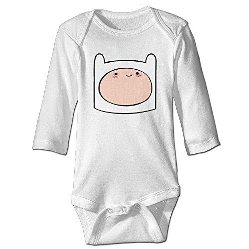 Adventure Time Finn The Human Baby Long Sleeve Bodysuits