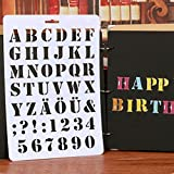 Powerfulline Letter Alphabet Number Hollow Stencils Painting Scrapbooking Paper Cards Craft