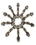 Excellent Value 10PCs Box Handle Knobs Arch Tracery Bronze Tone 4.3cmx1cm Furniture Hardware Woodworking Decoration