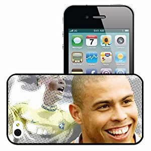 Personalized iPhone 4 4S Cell phone Case/Cover Skin Ronaldo Football Black