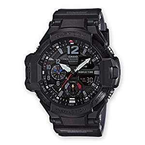 Casio Reloj Analógico-Digital para Hombre de Cuarzo con Correa en Resina GA-1100-1A1ER 5